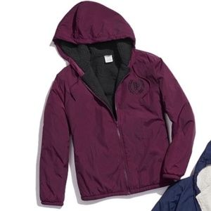 LAST TWO!! New VS Pink Sherpa Lined Anorak Jacket